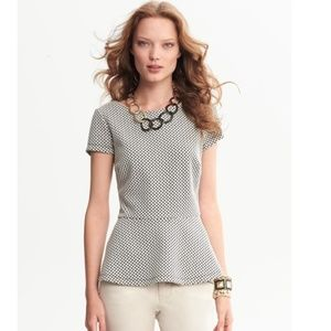 Banana Republic Honey Comb Dot Peplum Top 8